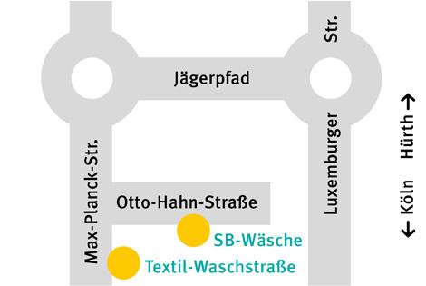 Anfahrt Waschstraße Köln